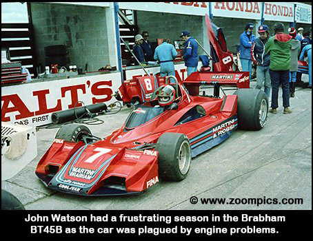 John Watson and the Brabham BT45B