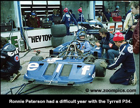 Ronnie Peterson and the Tyrrell P34