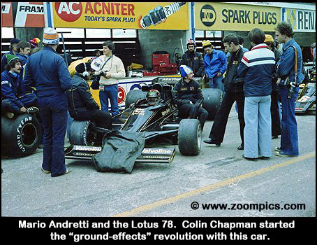 Mario Andretti and the Lotus 78