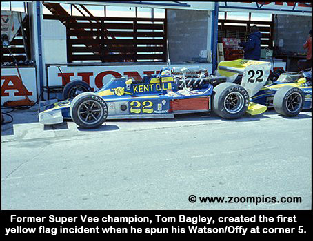 Tom Bagley was forced out of the race with an oil pump failure.